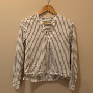 Super cute white and grey striped shirt